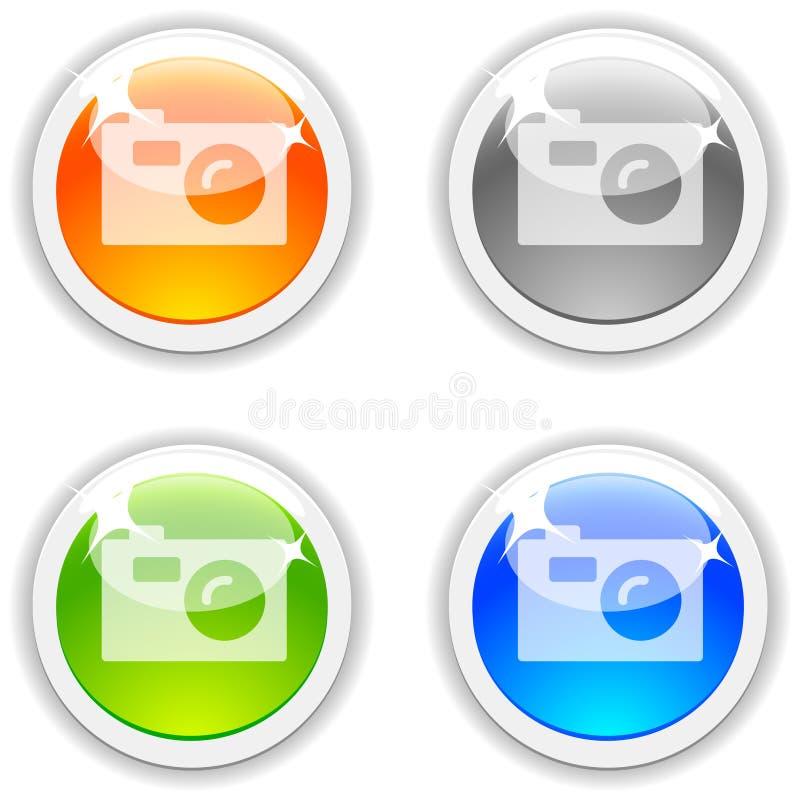 De knopen van de foto. vector illustratie
