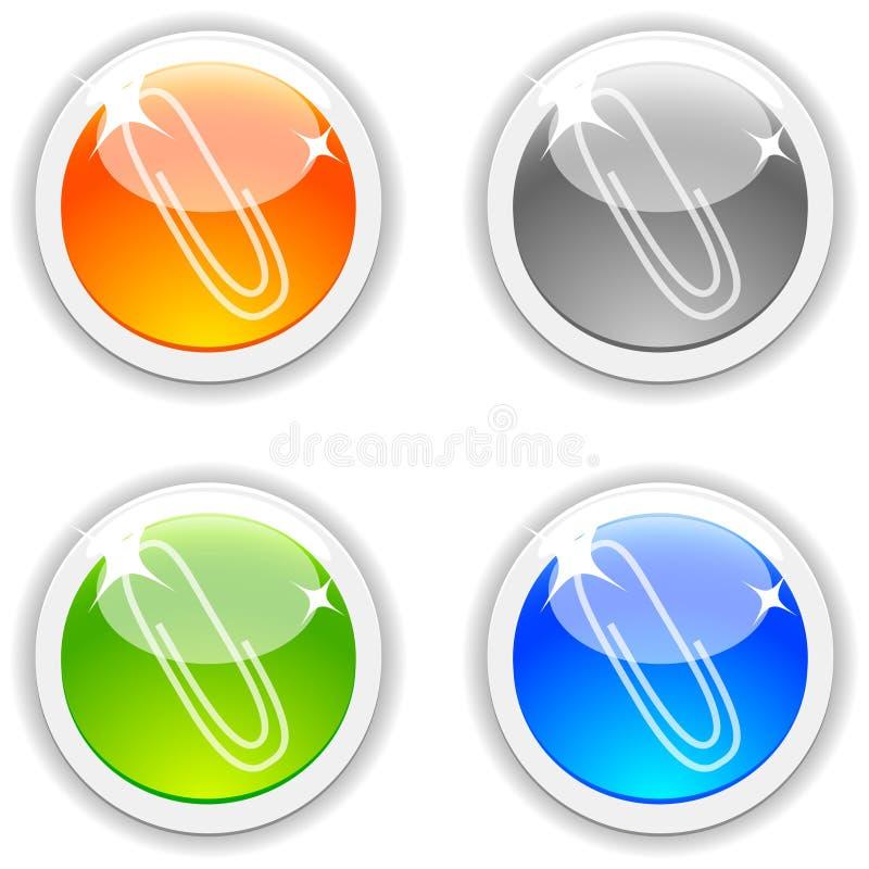 De knopen van de klem. vector illustratie