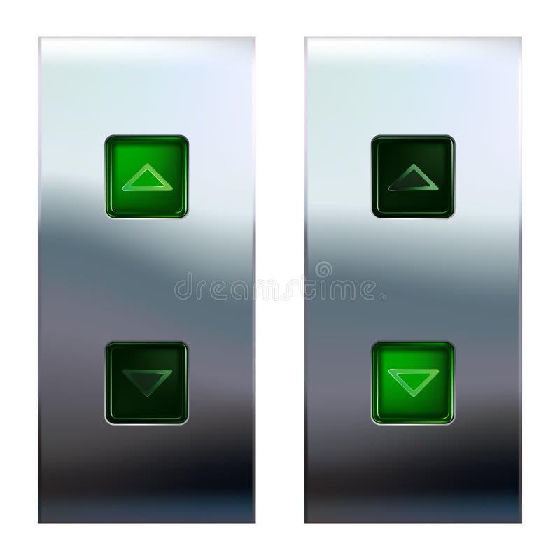 De knopen van de lift royalty-vrije illustratie