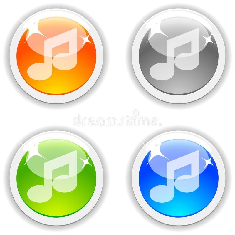 De knopen van de muziek. vector illustratie