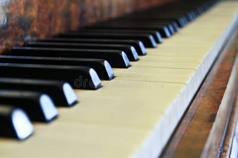 De knopen van de piano royalty-vrije stock afbeelding