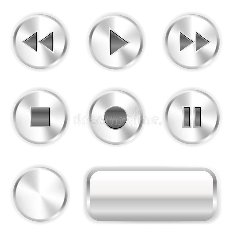 De knopen van de speler vector illustratie