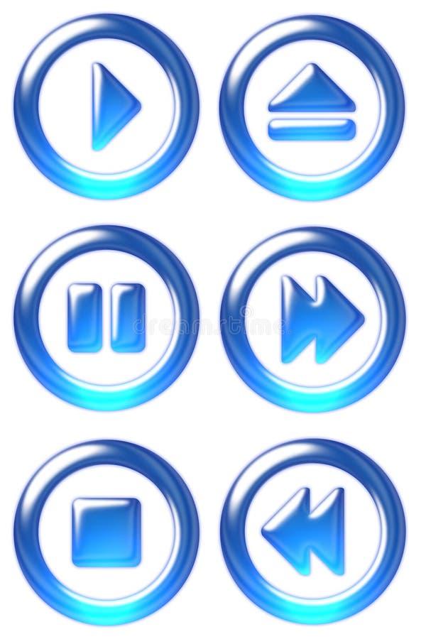 De knopen van de speler royalty-vrije illustratie