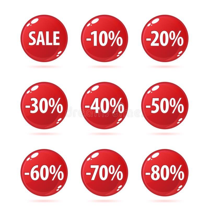 De knopen van de verkoop vector illustratie