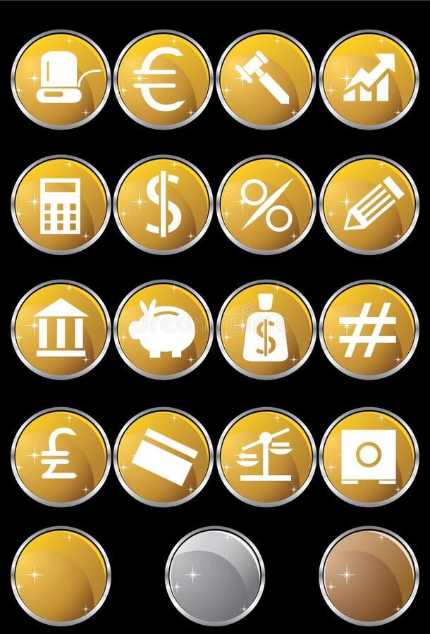 De Knopen van het bankwezen - Gevormde Ronde royalty-vrije illustratie