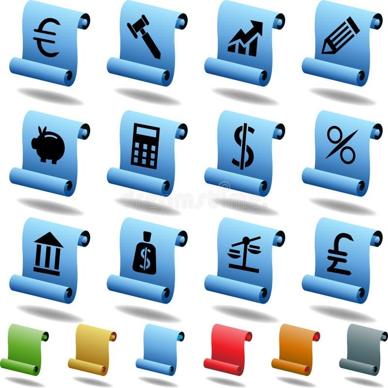 De Knopen van het bankwezen - Rol vector illustratie