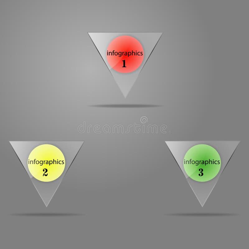 De knopen van het glas Vector illustratie royalty-vrije stock afbeelding