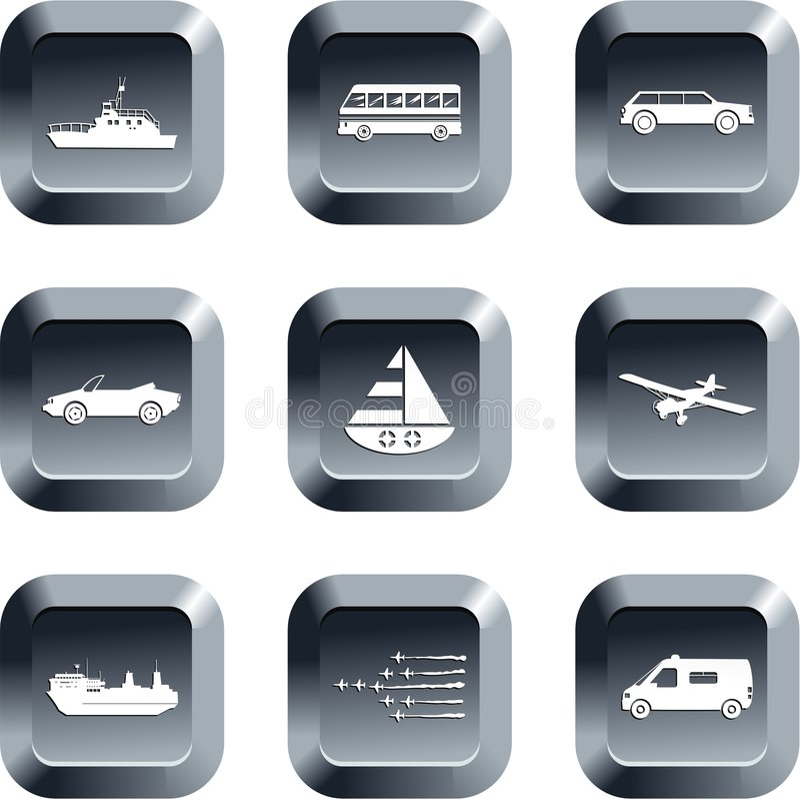 De knopen van het vervoer royalty-vrije illustratie