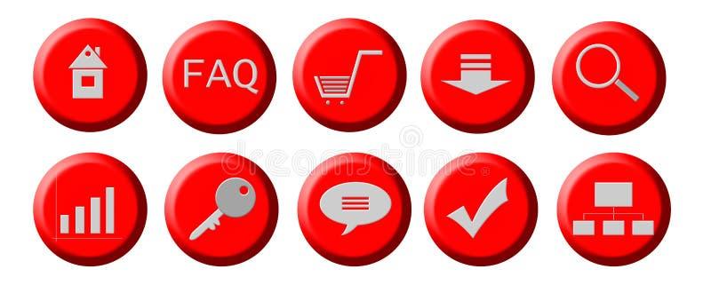De knopen van het Web stock illustratie