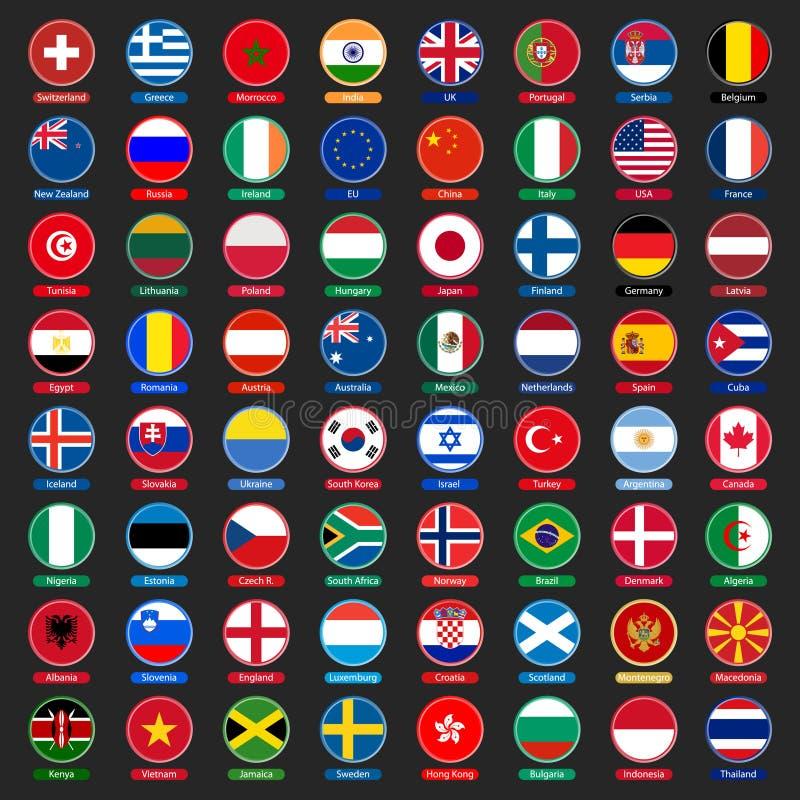 De knopen van vlaggen stock illustratie