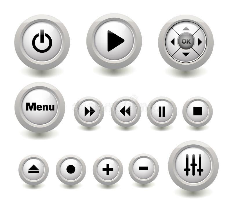 De knopeninzameling van verschillende media vector illustratie