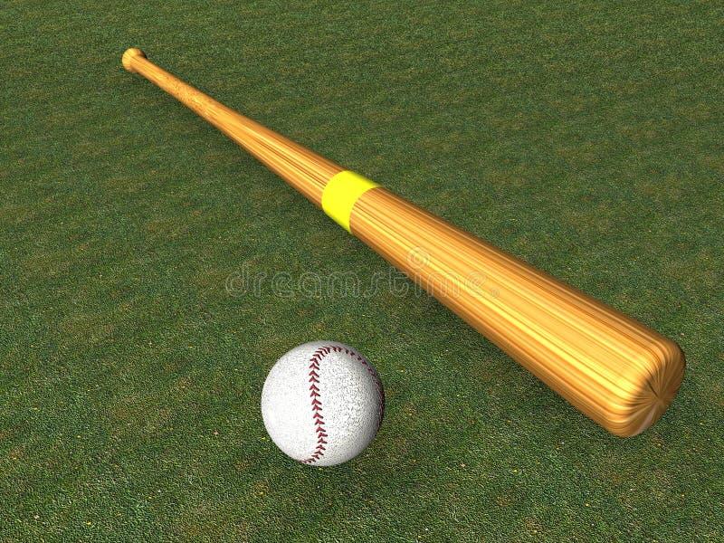 De knuppel van het honkbal royalty-vrije illustratie