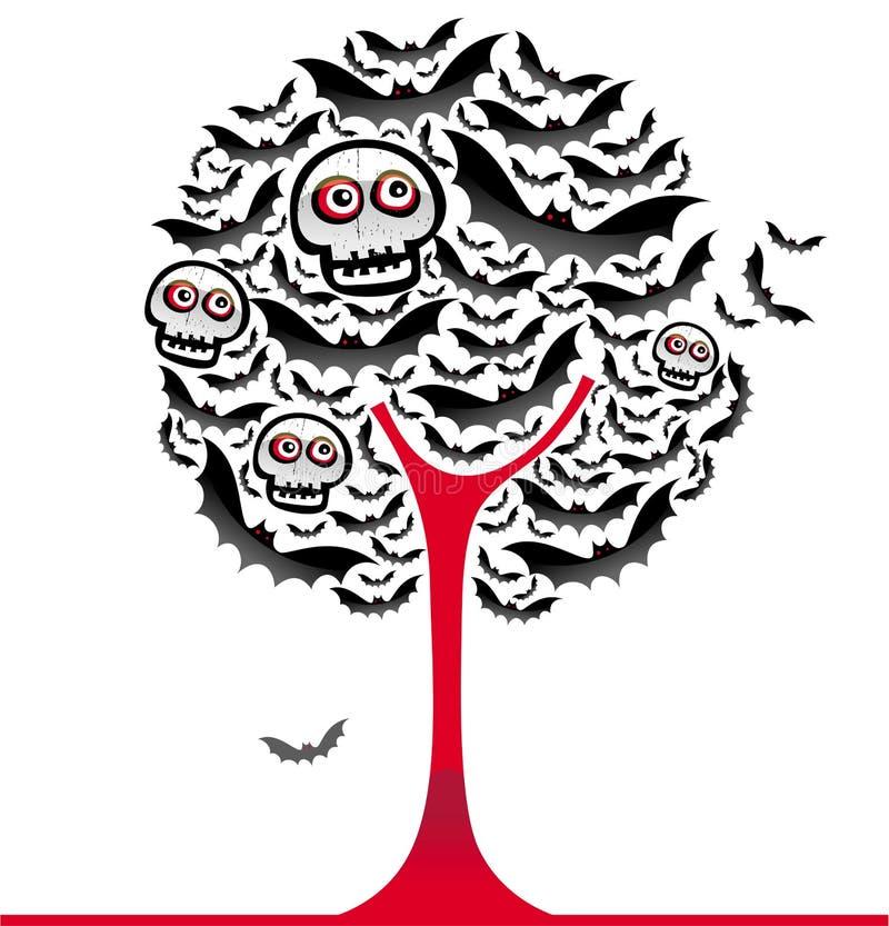 De knuppelsboom 2 van Halloween vector illustratie