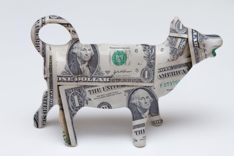 De koe van het contante geld stock foto's