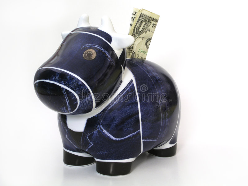 De Koe Van Het Contante Geld Royalty-vrije Stock Afbeeldingen
