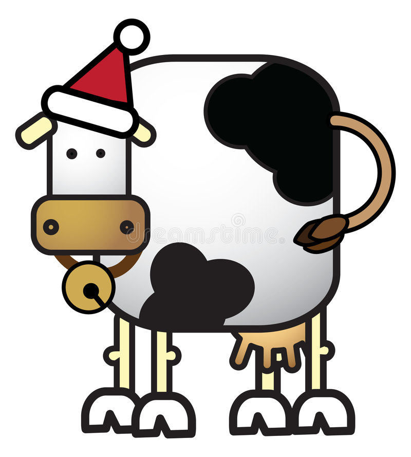 De Koe van Kerstmis stock illustratie