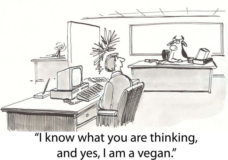 De koe is veganist vector illustratie