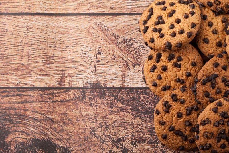 De koekjes met chocoladeschilfer royalty-vrije stock afbeelding