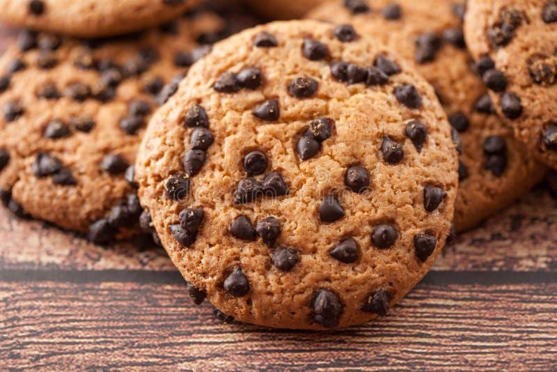 De koekjes met chocoladeschilfer stock fotografie