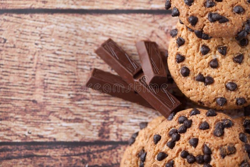 De koekjes met chocoladeschilfer stock afbeeldingen