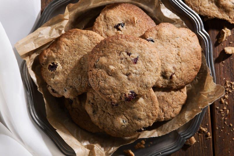 De koekjes van de Amerikaanse veenbesokkernoot stock foto