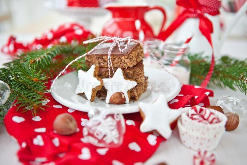 De koekjes van de cake en van Kerstmis royalty-vrije stock foto