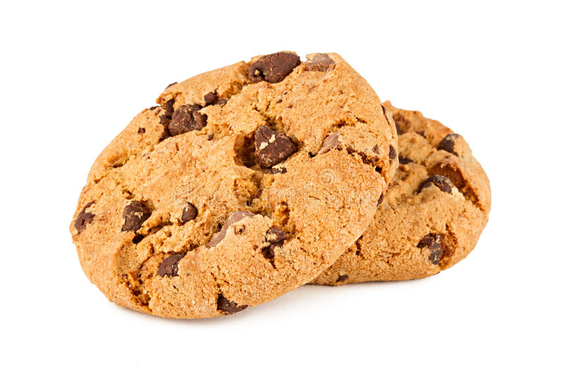 De koekjes van de chocolade stock afbeeldingen