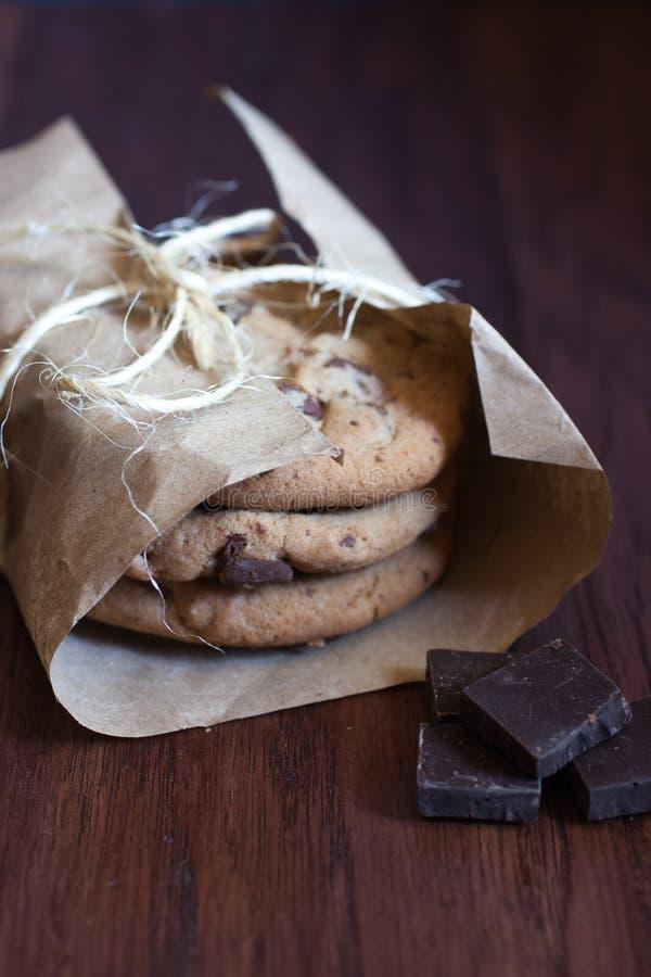 De koekjes van de chocoladebrok royalty-vrije stock afbeelding