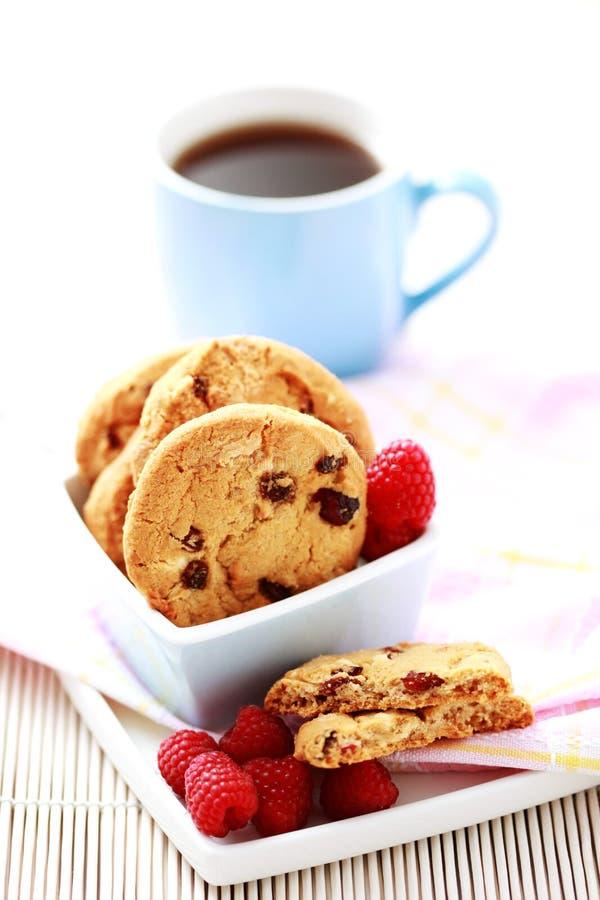 De koekjes van de framboos stock afbeelding