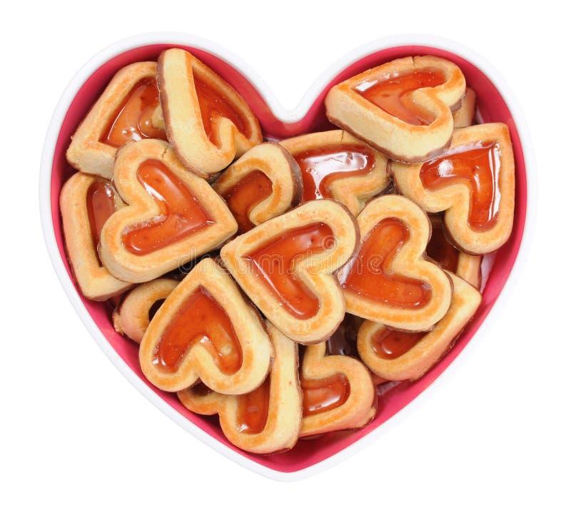 De koekjes van de hartvorm stock fotografie
