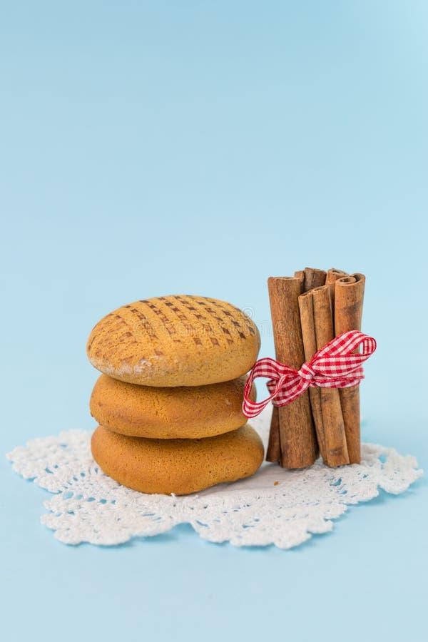 De koekjes van de kaneelhoning royalty-vrije stock afbeelding