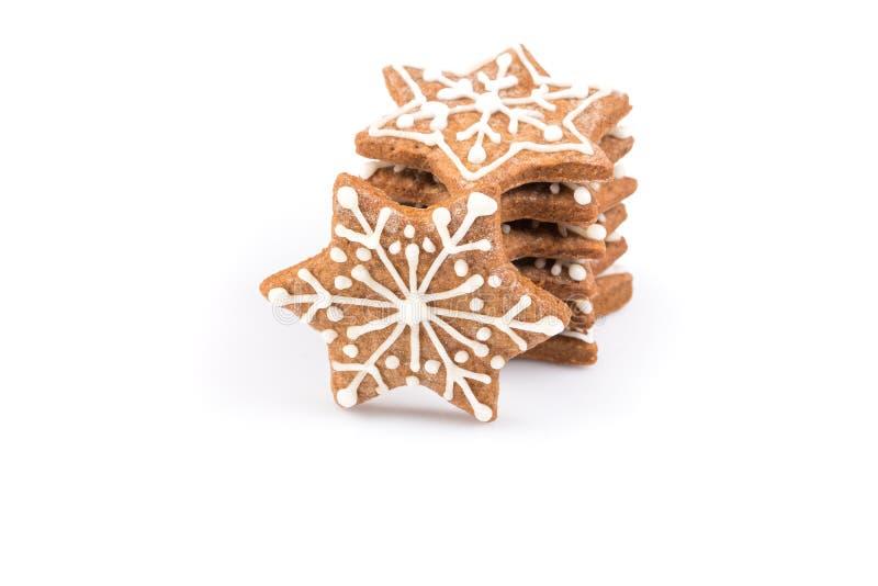 De koekjes van de Kerstmispeperkoek van de stervorm royalty-vrije stock foto's