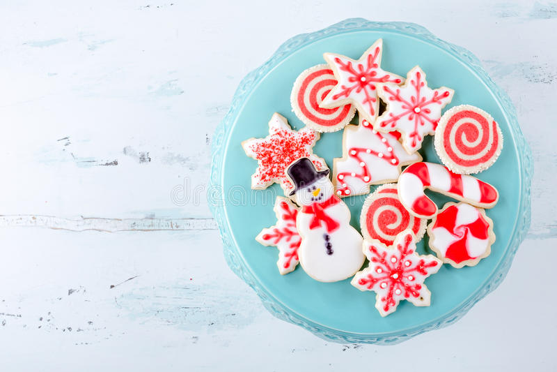 De koekjes van de Kerstmissuiker stock foto's