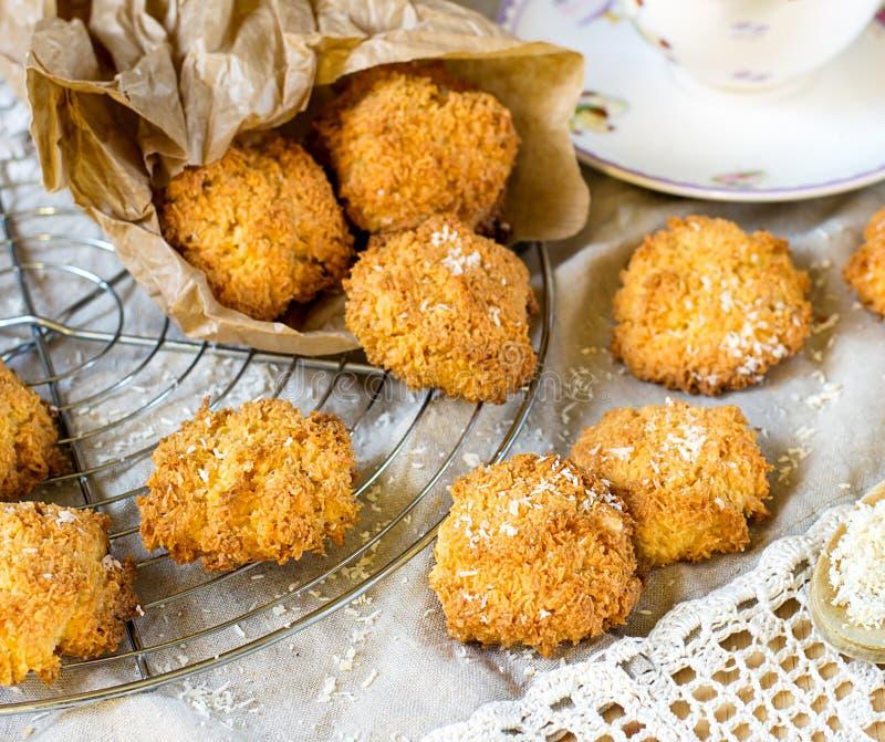 De koekjes van de kokosnotenmakaron royalty-vrije stock afbeeldingen