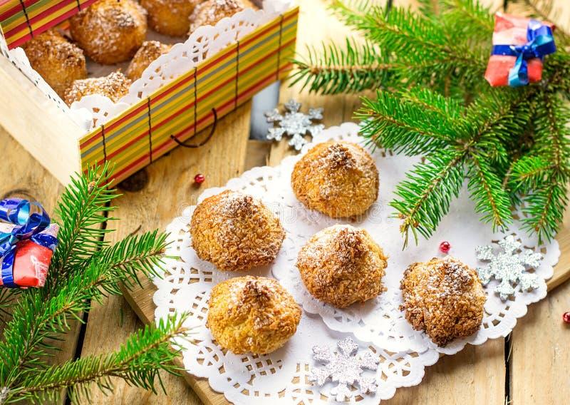 De koekjes van de kokosnotenmakaron royalty-vrije stock fotografie