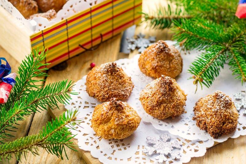De koekjes van de kokosnotenmakaron royalty-vrije stock foto