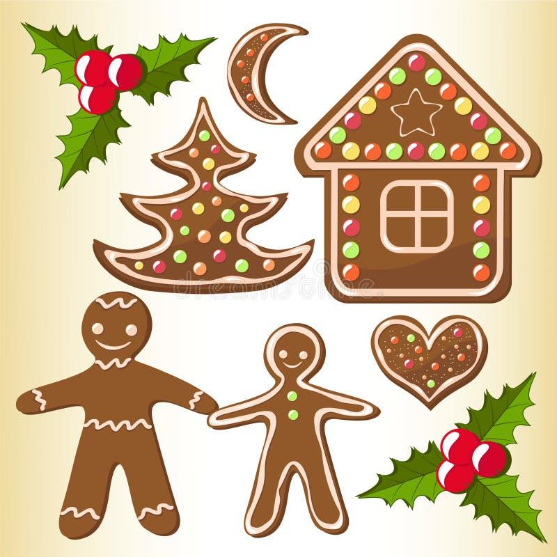 De koekjes van de peperkoek. vector illustratie