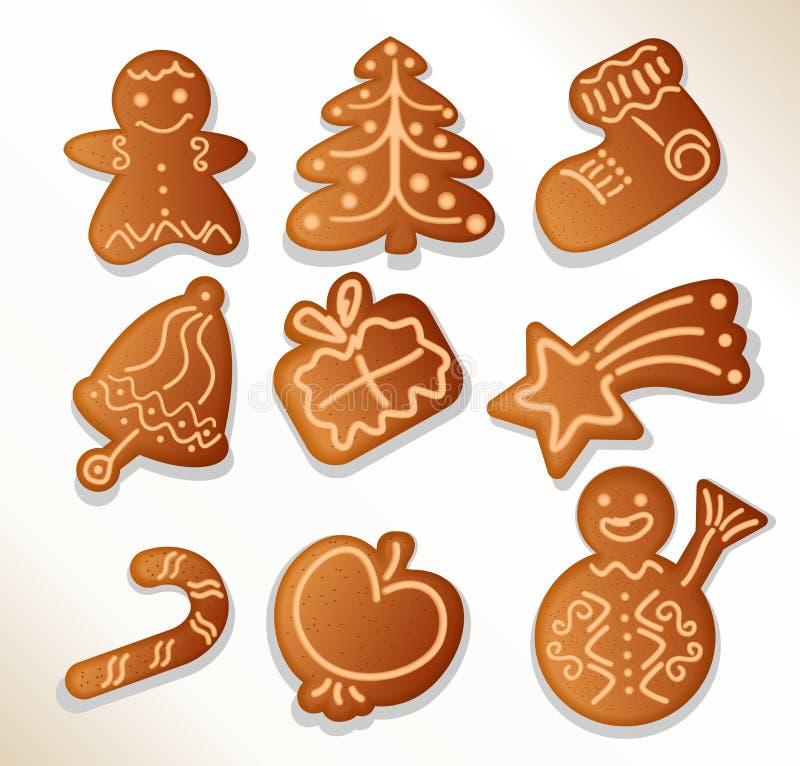 De koekjes van de peperkoek - vector stock illustratie