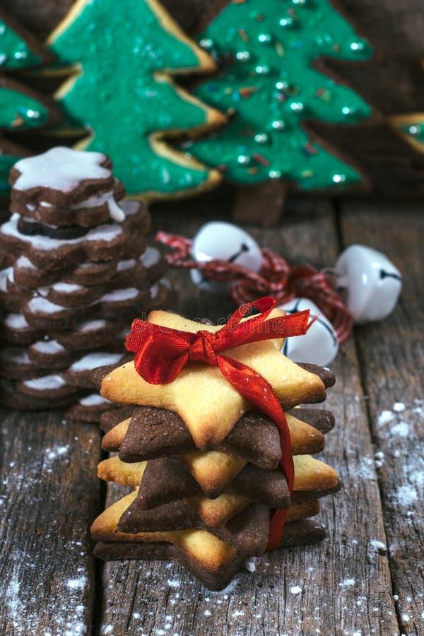 De koekjes van giftpeperkoeken stock afbeelding