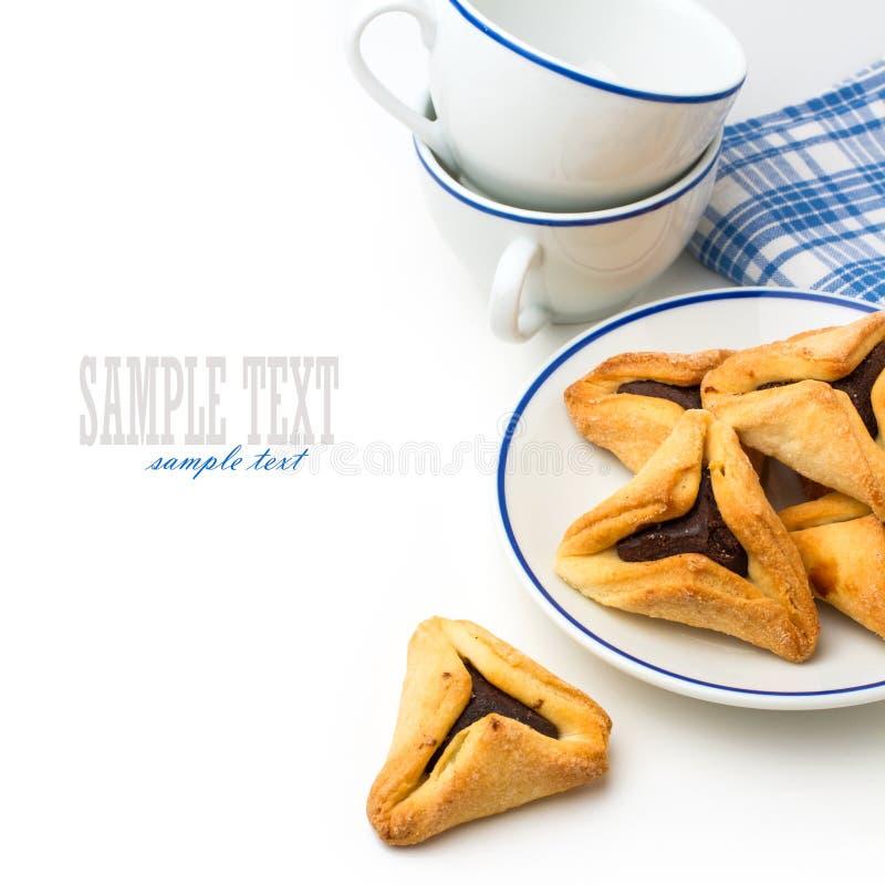 De koekjes van Hamantaschen royalty-vrije stock afbeeldingen