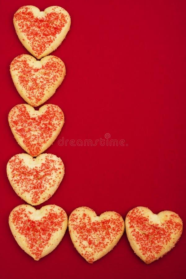 De Koekjes van het hart stock afbeelding