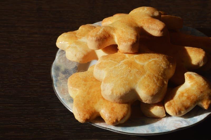 De koekjes van het huisbaksel royalty-vrije stock afbeelding