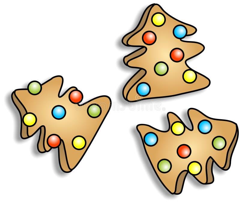 De Koekjes van Kerstmis stock illustratie