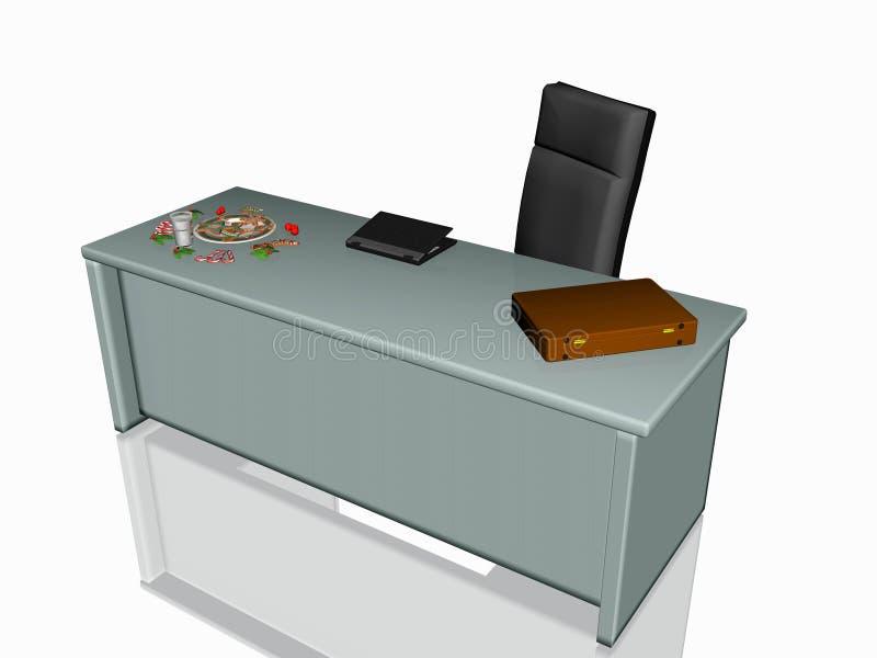 De koekjes van Kerstmis op bureau. stock illustratie