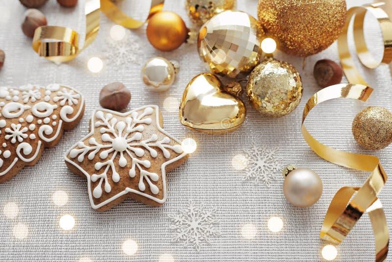 De koekjes van Kerstmispeperkoeken stock fotografie