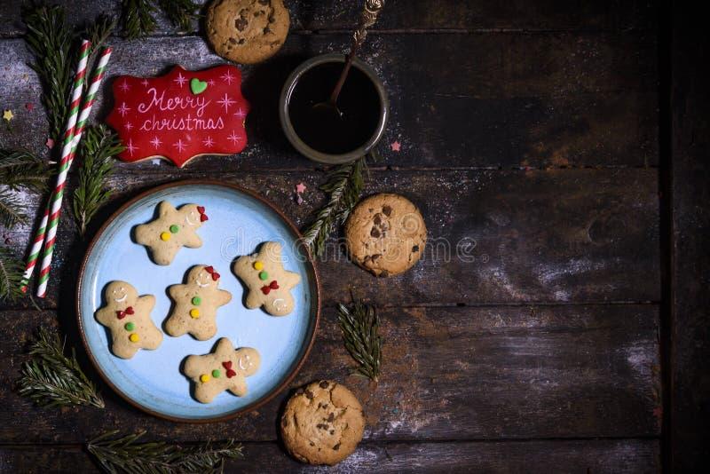 De koekjes van de peperkoekvakantie stock foto