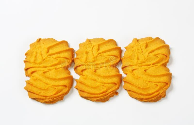 De koekjes van vanillespritz royalty-vrije stock fotografie