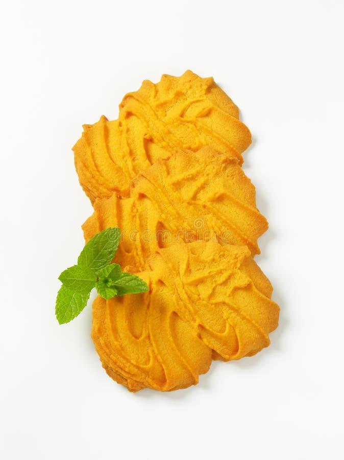 De koekjes van vanillespritz royalty-vrije stock afbeelding