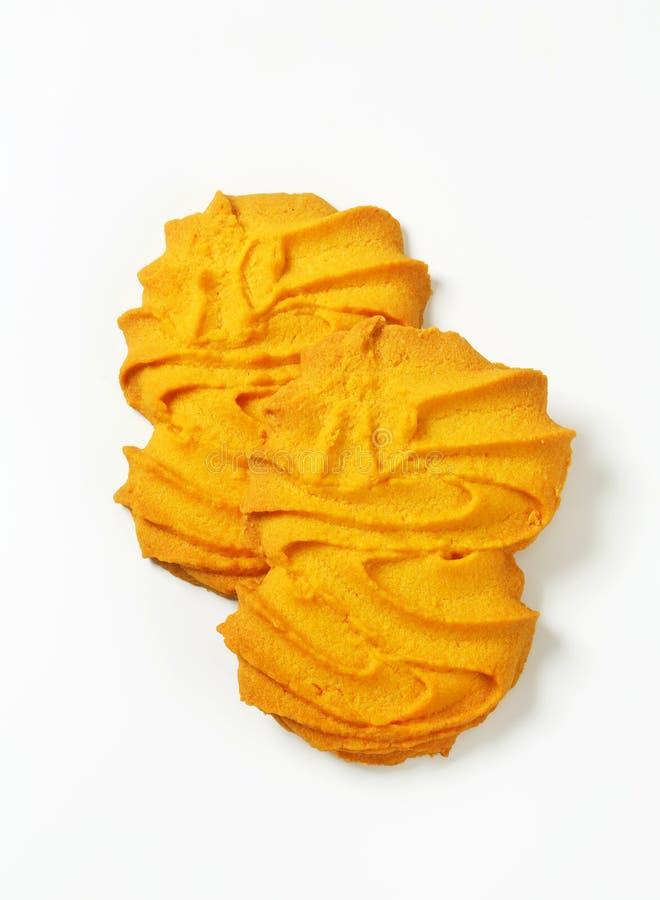 De koekjes van vanillespritz royalty-vrije stock foto's