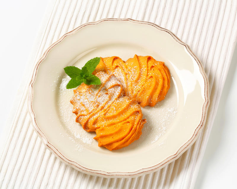 De koekjes van vanillespritz stock afbeeldingen